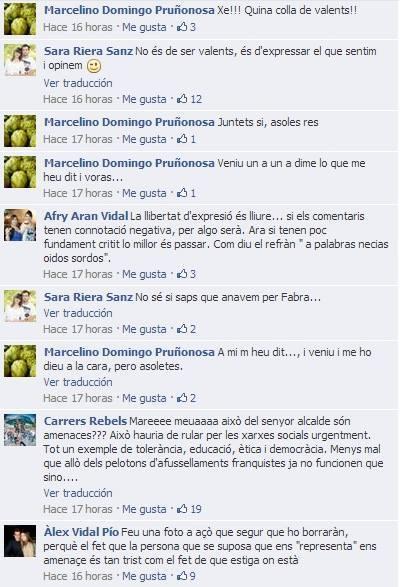 El alcalde de Benicarló amenaza por Facebook a los vecinos que prostestaron contra la gestión de Fabra