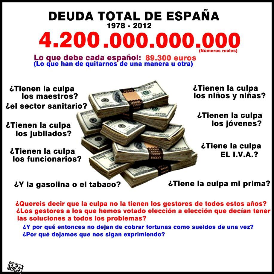 1978-2012 La deuda Española
