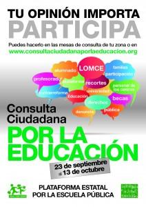 Consulta Ciudadana en octubre por la Educación Pública