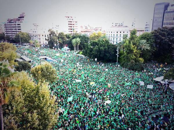 La Marea Verde desborda las calles en la mayor manifestación de la historia de Palma