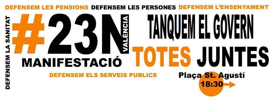 Manifestación 23N Totes Juntes